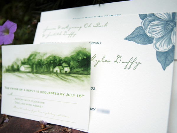 Myles and Saerom wedding invites