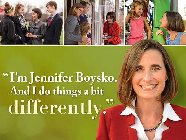Different: positive direct mail in Virginia State Delegate race: indesign