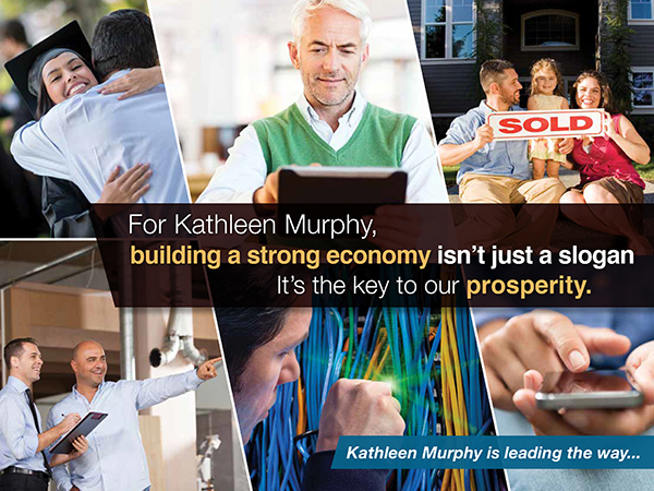 For Our Economy: positive direct mail in Virginia State Delegate race: indesign and photoshop