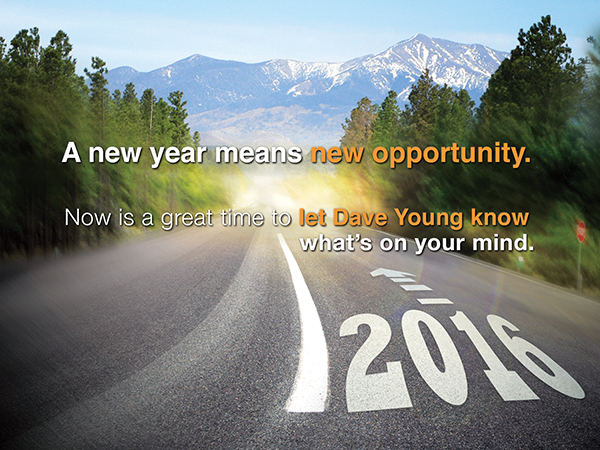 New Year, New Opportunity: direct mail in Colorado: indesign and photoshop
