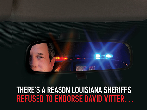 Police Sirens: negative direct mail in Louisiana Governor's race: indesign and photoshop