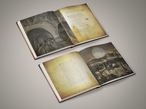 Lorem Ipsom: personal illustration project: sketchpad, photoshop and indesign