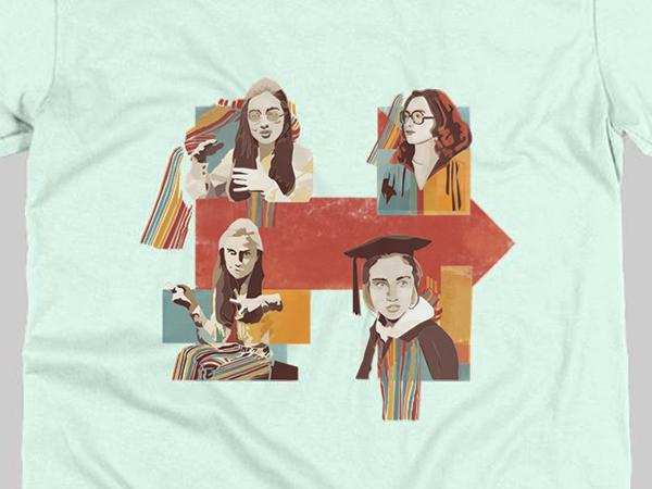 Hillary Clinton T-shirt design:  custom illustration: illustrator and photoshop